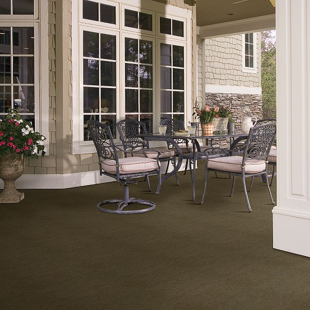 Shaw Softscape II (12') Collection, Color  00700 Peat, Indoor/Outdoor/Grass Carpet