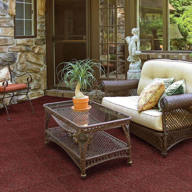 Shaw Cabana (t) Collection, Color  00810 Crushed Brick, Indoor/Outdoor/Grass Carpet