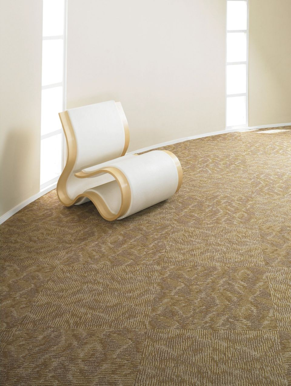 Ripple Effect Tile J0116  Color 00100 Carpet Tile